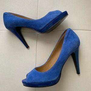 NINE WEST High Heels Stilettos Peep Toe Blue